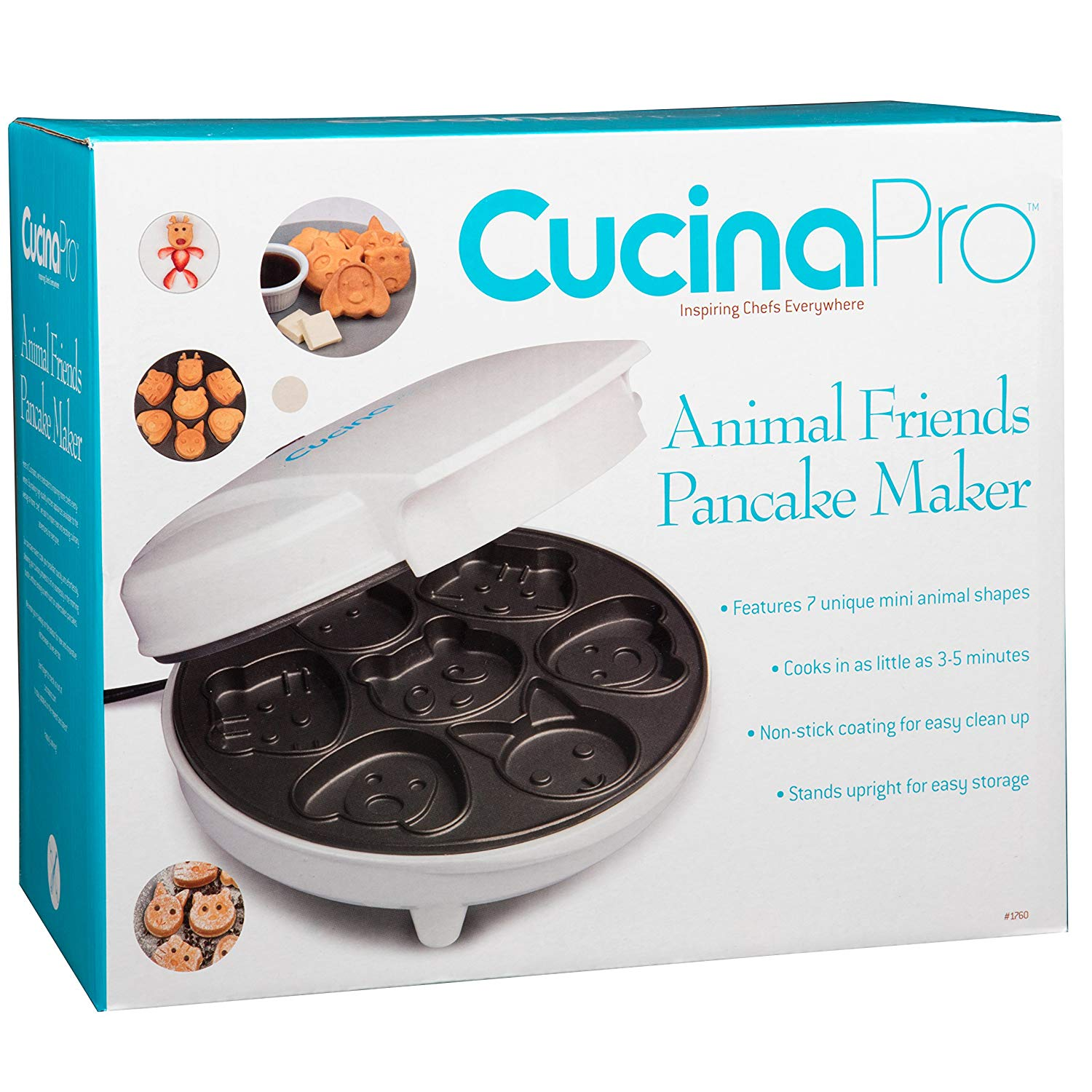 Animal Mini Waffle Maker Makes 7 Fun Different Shaped Pancakes
